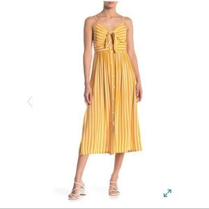 NWT Angies midi striped dress with front tie